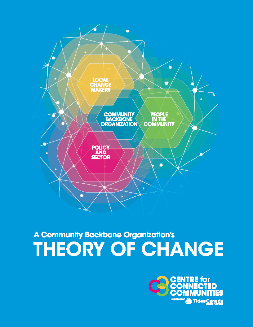 """Cover art for the publication """"Community Backbone Theory of Change"""""""